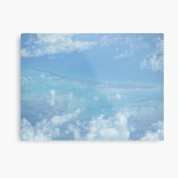 Ocean view from the sky and plane Metal Print