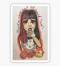 Melanie Martinez-Soap Sticker