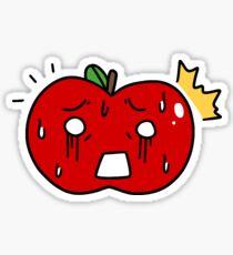 Shocked Apple Sticker