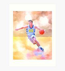 Fast Break - The Spirit of Basketball - Abstract Sports Art Art Print