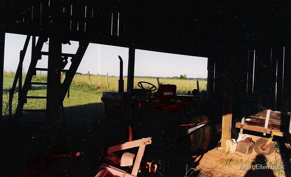 View Through the Barn by Janet Ellen Lusk