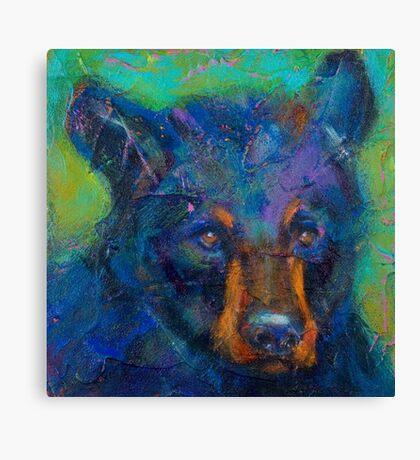 Earth Keeper: Black Bear Canvas Print