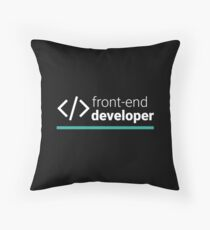 Front-End Developer Throw Pillow