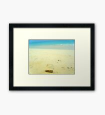 Cuban cigar on beach Framed Print