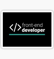 Front-End Developer Sticker
