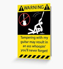 Tampering with My Guitar Greeting Card