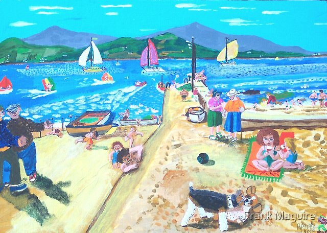 Ballydavid on a Summer's day. by Frank Maguire