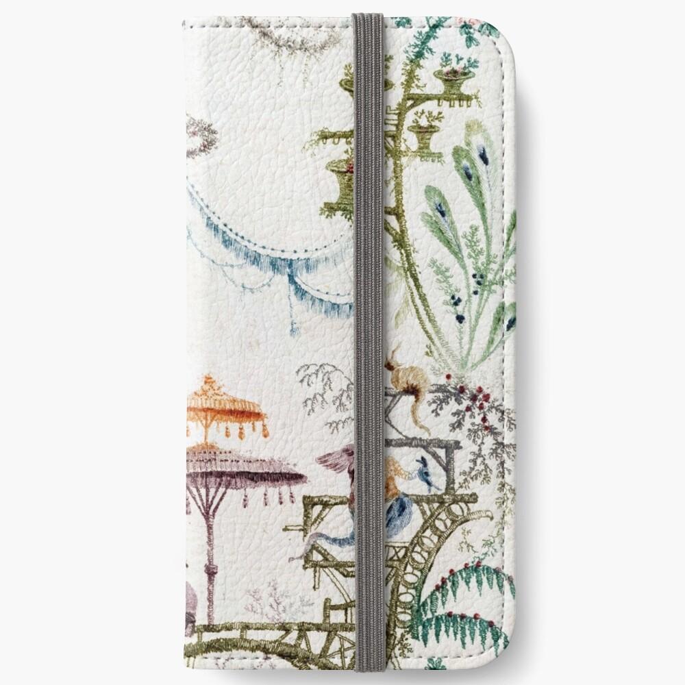 Verzauberter Wald Chinoiserie iPhone Flip-Case