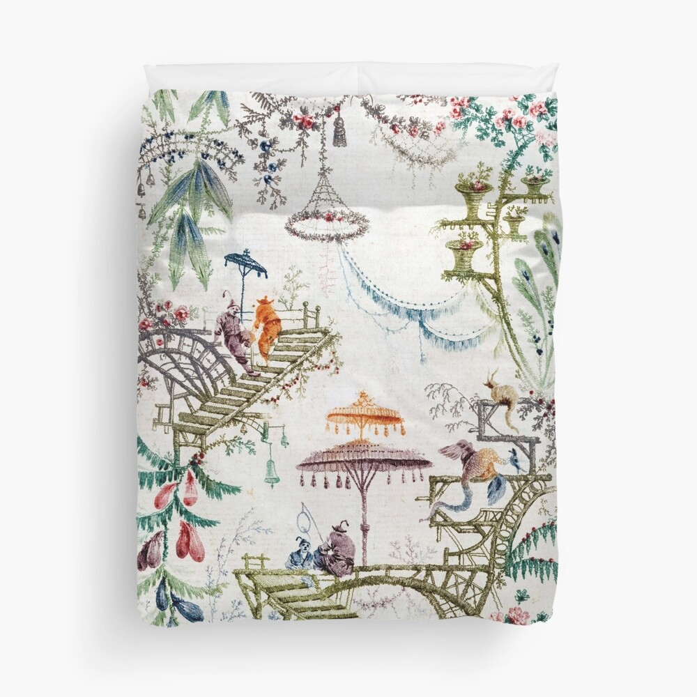 Enchanted Forest Chinoiserie Duvet Cover