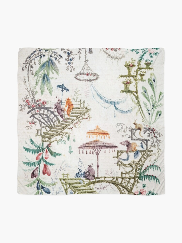 Alternate view of Enchanted Forest Chinoiserie Scarf