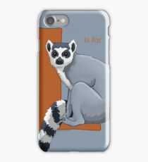 L is for Lemur iPhone Case/Skin