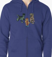 Catching Lunch redux Zipped Hoodie
