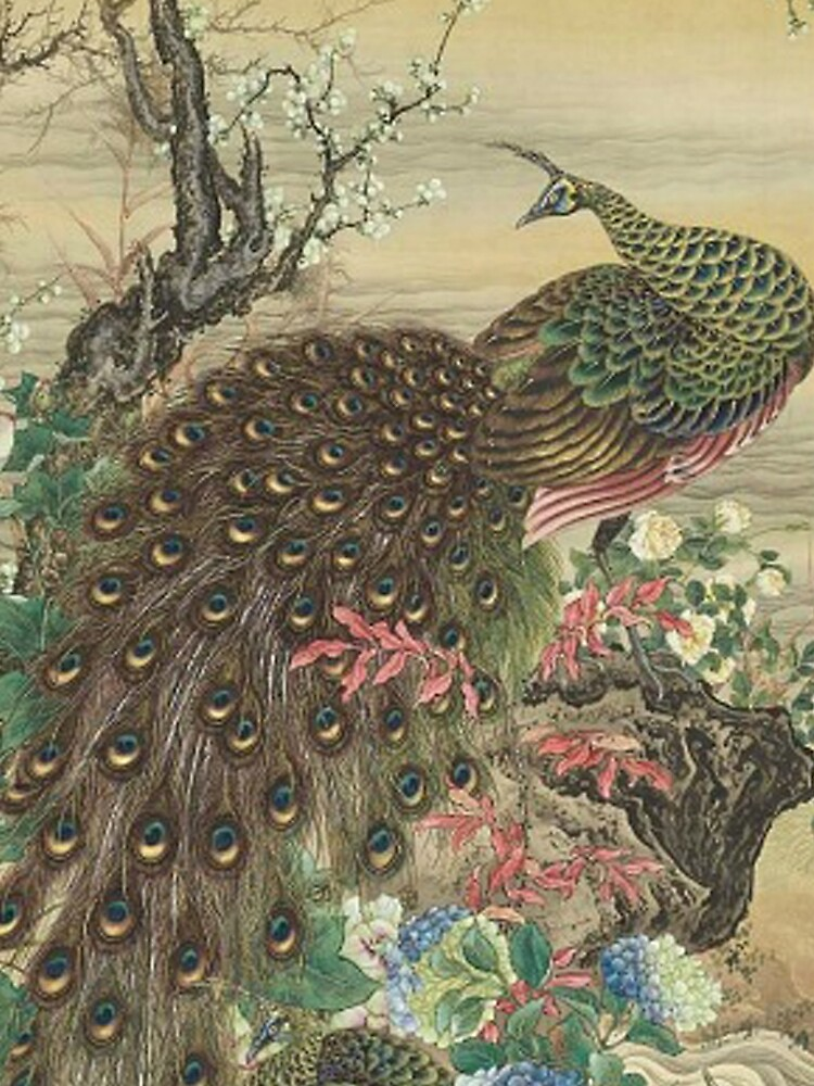 Lady Peacock Chinoiserie by TheChinoiserie