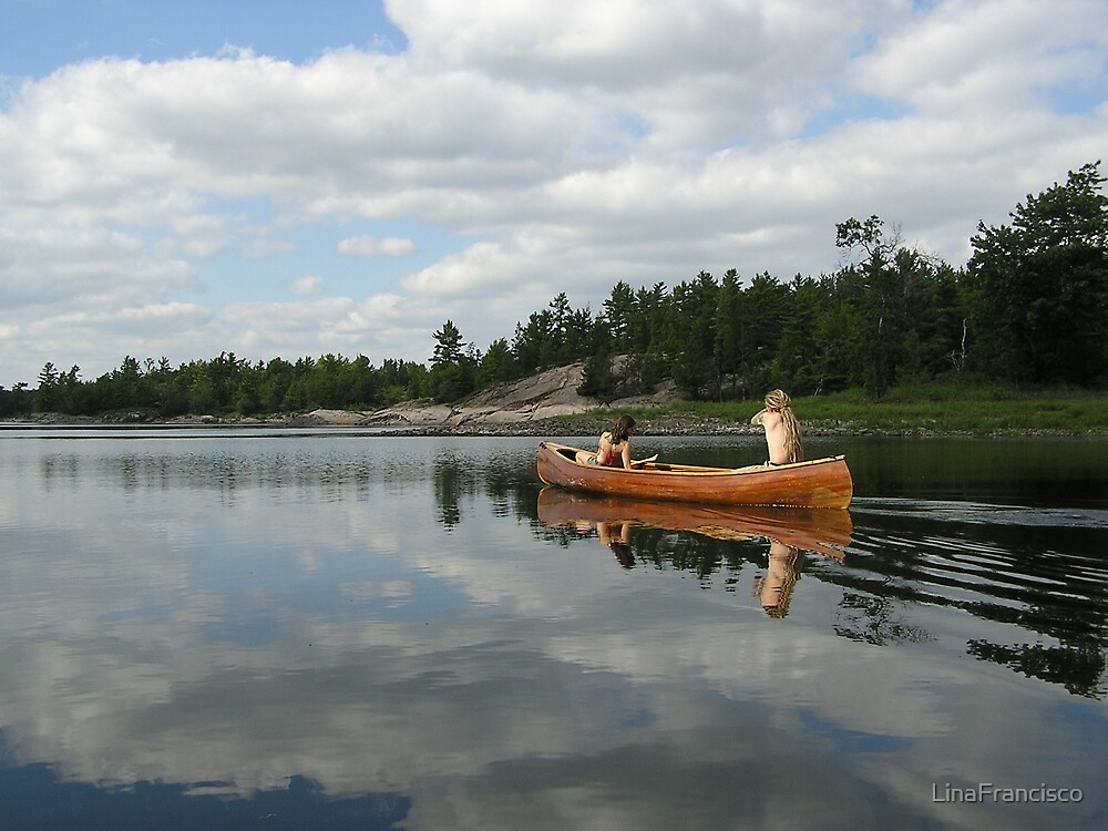 Canoeing in the French River by LinaFrancisco