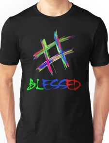 Colorful Hashtag Blessed T-shirts Unisex T-Shirt