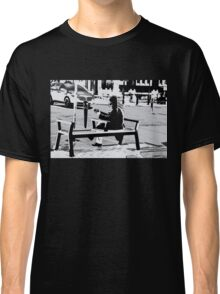 Busking for His Ticket Home - Guitar Player Classic T-Shirt