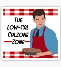 The Low-Cal Calzone Zone Sticker