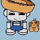 Jim Bot Jr. O'BABYBOT Toy Robot 1.0 (and Mudbone) by Carbon-Fibre Media