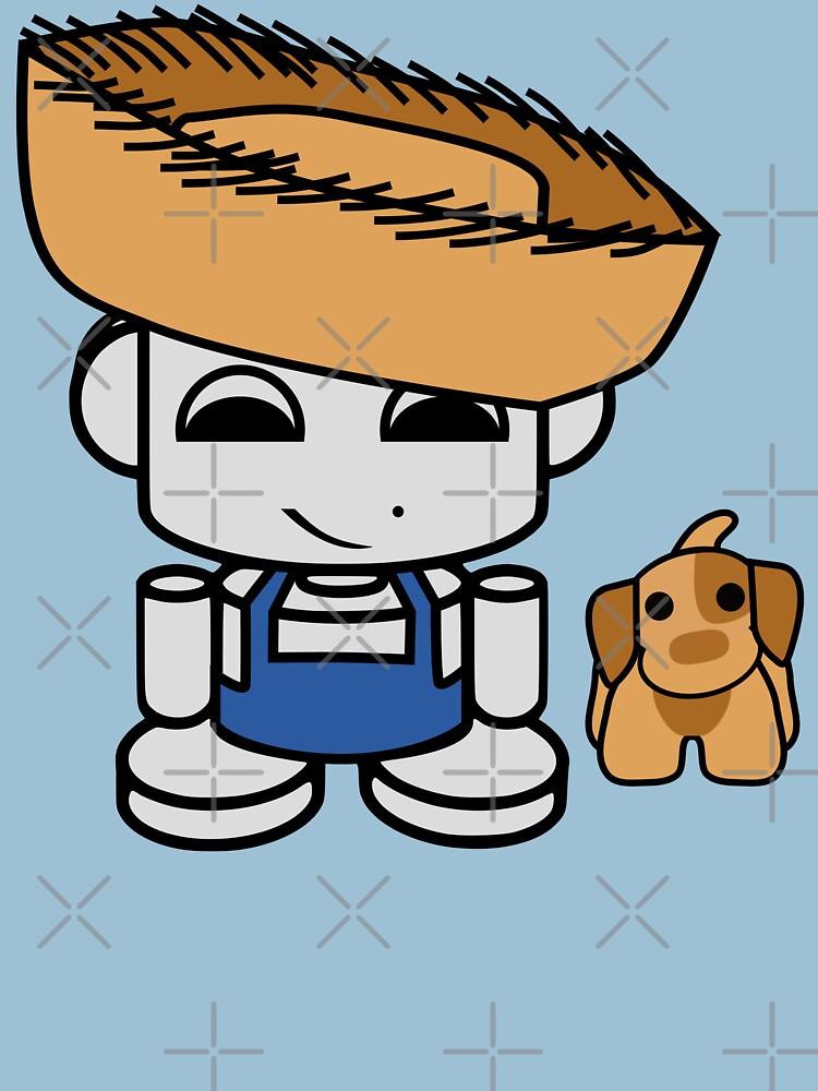 Jim Bot Jr. O'BABYBOT Toy Robot 1.0 (and Mudbone) by carbonfibreme