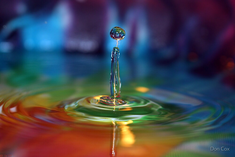 dye drop with reflection by Don Cox
