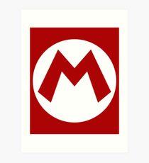 """""""M"""" Logo Art Print"""