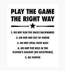 The Right Way Photographic Print