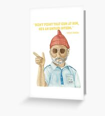 Steve Zissou - The Life Aquatic by Wes Anderson, Bill Murray Greeting Card