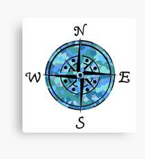 Naval Compass Canvas Print