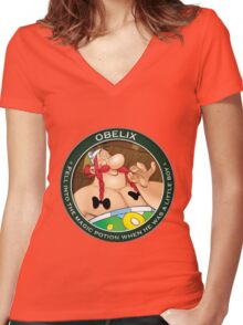 obelix Women's Fitted V-Neck T-Shirt