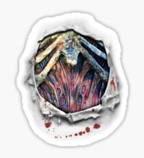 Zombie Chest Ripped Shirt Torn Bloody Halloween Costume Sticker