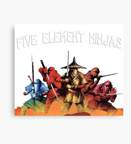 Five Element Ninjas Canvas Print
