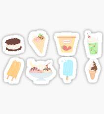 ice cream collection  Sticker