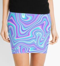 Glitch Marble Mini Skirt