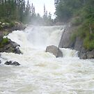 Small Falls off the Wuskwatim Dam site to be~! by Peter & Zini  de Beer