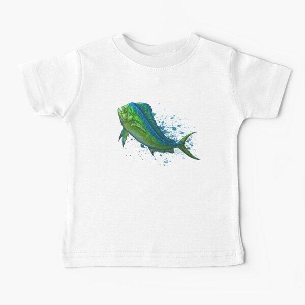"""El Dorado"" by Amber Marine ~ mahi mahi / dolphin fish art, © 2015 Baby T-Shirt"