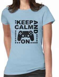 Keep Calm Game On Ps Womens Fitted T-Shirt