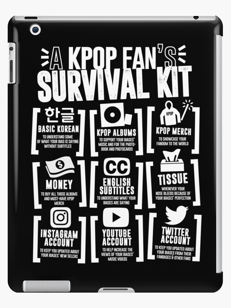 A Kpop Fans Survival Kit Black Ver Ipad Cases Skins By