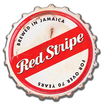 Red Stripe Bottle Cap by mimarumble
