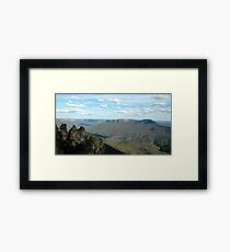 Three Sisters, Blue Mountains Australia Framed Print