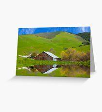 Old Barn, Jallama, CA. Greeting Card