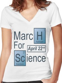 March For Science T-Shirt  Women's Fitted V-Neck T-Shirt
