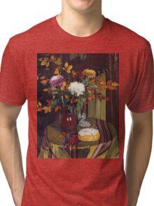 Felix Vallotton - Chrysanthemums And Autumn Foilage Tri-blend T-Shirt