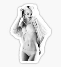Candice Swanepoel Black and White Sticker