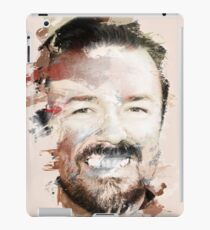 Paint-Stroked Portrait of Actor and Comedian, Ricky Gervais iPad Case/Skin