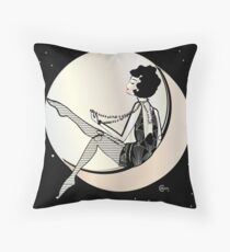 Swinging on the Moon  Throw Pillow