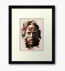 Paint Stroked Portrait of Tim Minchin Framed Print