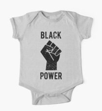 Black Power Fist One Piece - Short Sleeve