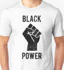 Schwarze Power Faust Slim Fit T-Shirt