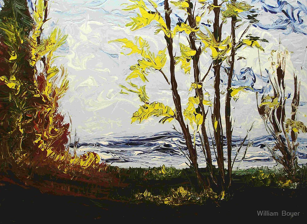 Last finger painting in 2007 by William  Boyer