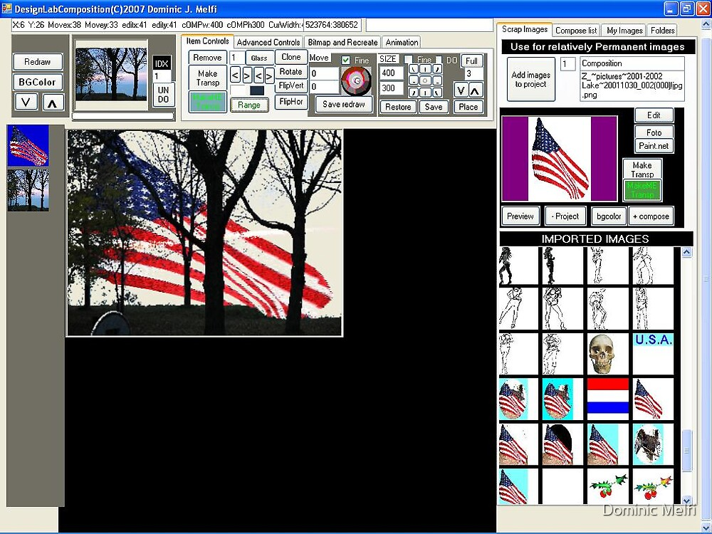 Screen Shot DesignLabComposition by Dominic Melfi